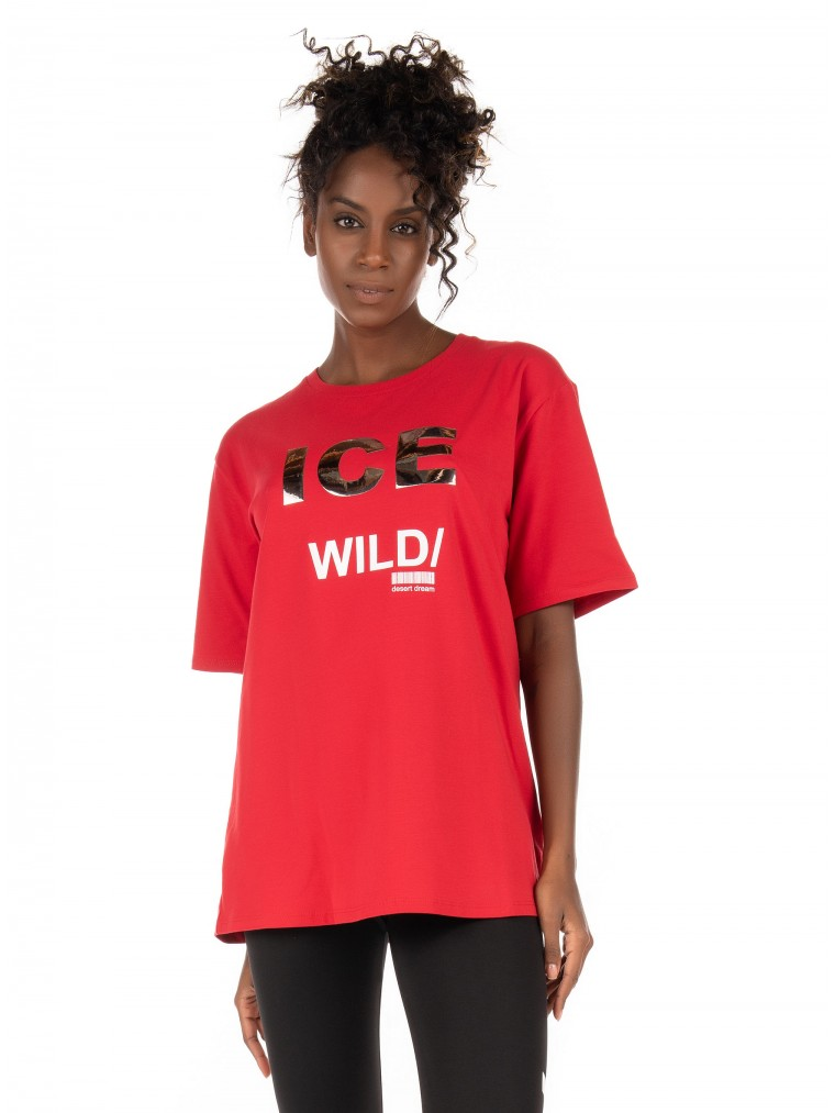 Ice Play T-Shirt-Red