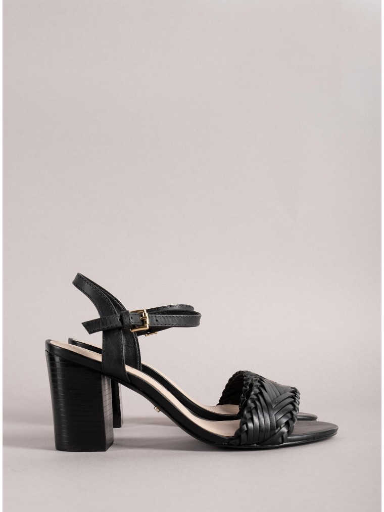 Arezzo Heeled Sandals-Black
