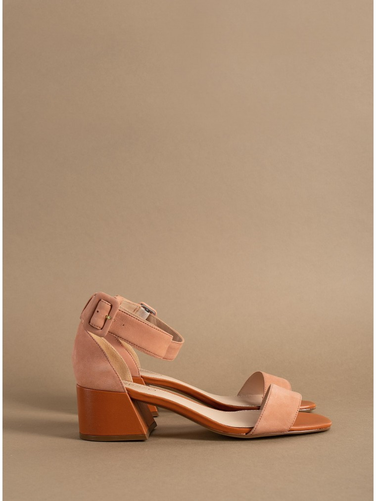 Arezzo Heeled Sandals-Orange