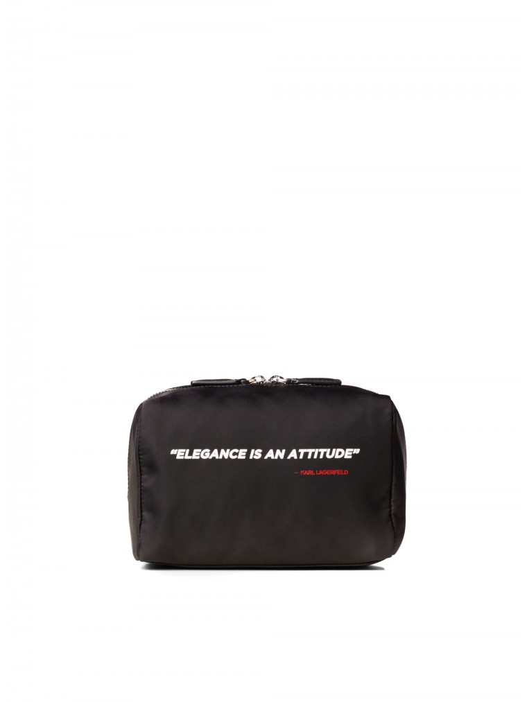 Karl Lagerfeld Karl Legend Nylon Washbag-Black
