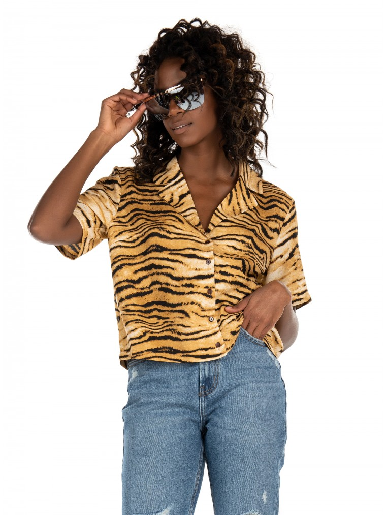 Rut & Circle Shirt-Animal Print
