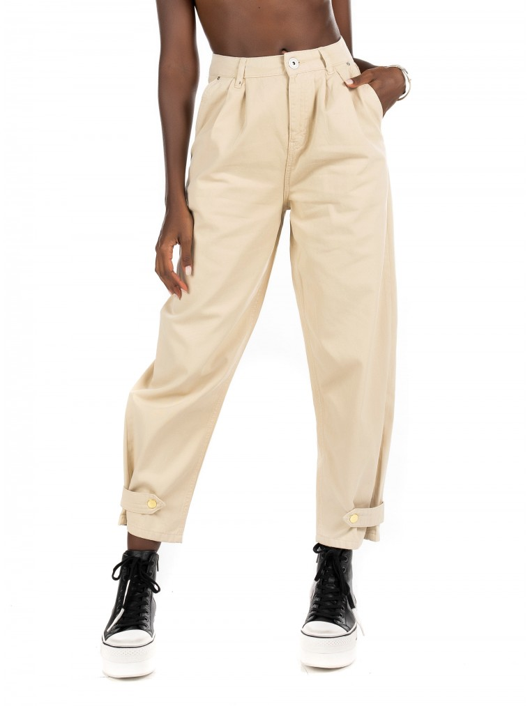 Only High Waist Ankle Utility Chino Pants Amaranta-Off White