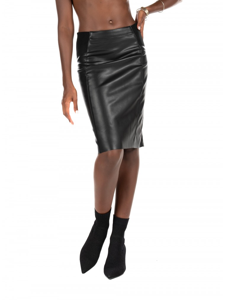 Vero Moda Coated Skirt Butteria-Black
