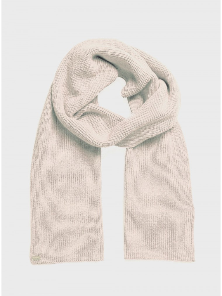 Superdry Heritage Ribbed Scarf-Off White
