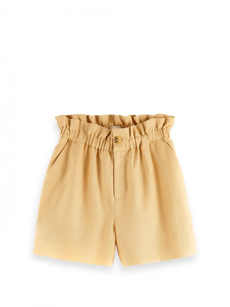 Maison Scotch Linen Shorts-Camel