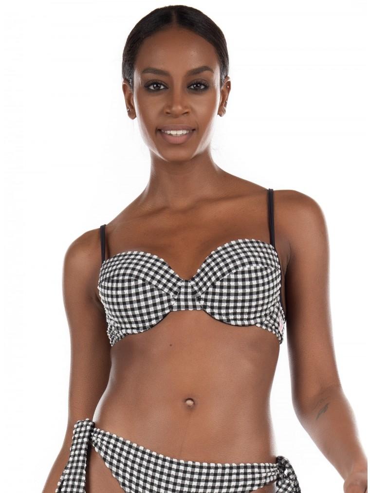 Guess Bikini Top-Black & White