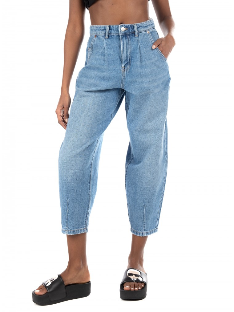 Only High Waist Ballon Jeans Verna-Medium Aged Denim
