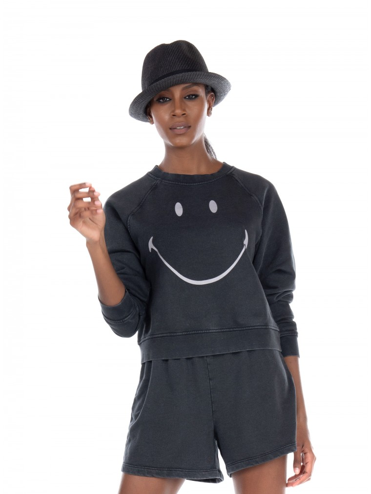 Only Sweater Smiley-Black