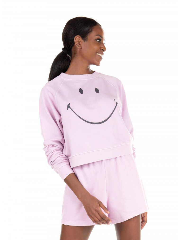 Only Sweater Smiley-Lilac