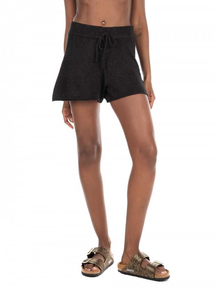 Only Knitted Shorts Fiona-Black