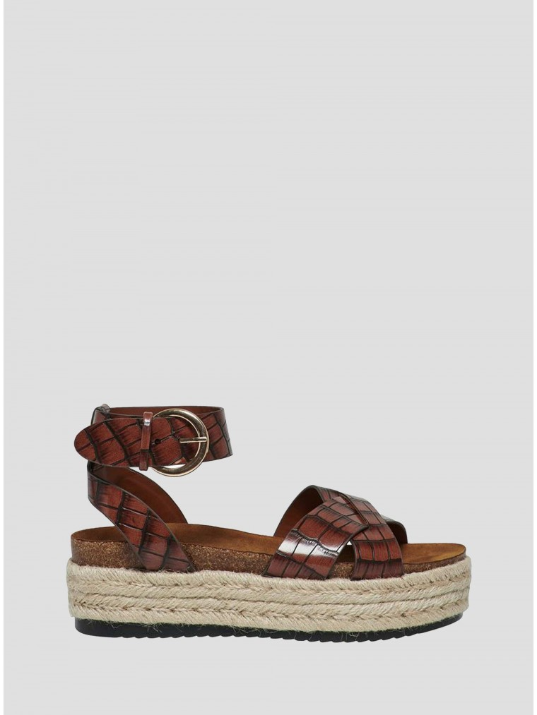 Only Sandals Mauve-Brown