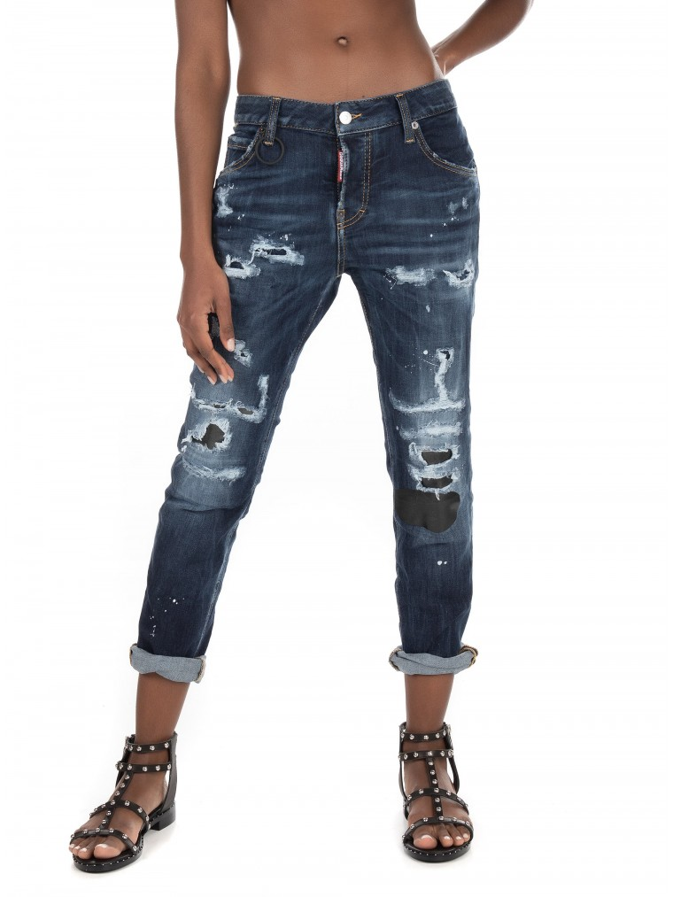 Dsquared Jeans Cool Girl-Dark Aged Denim