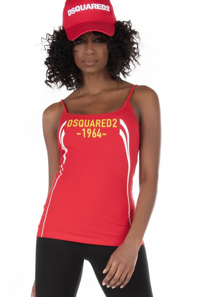 Dsquared Tank Top-Red