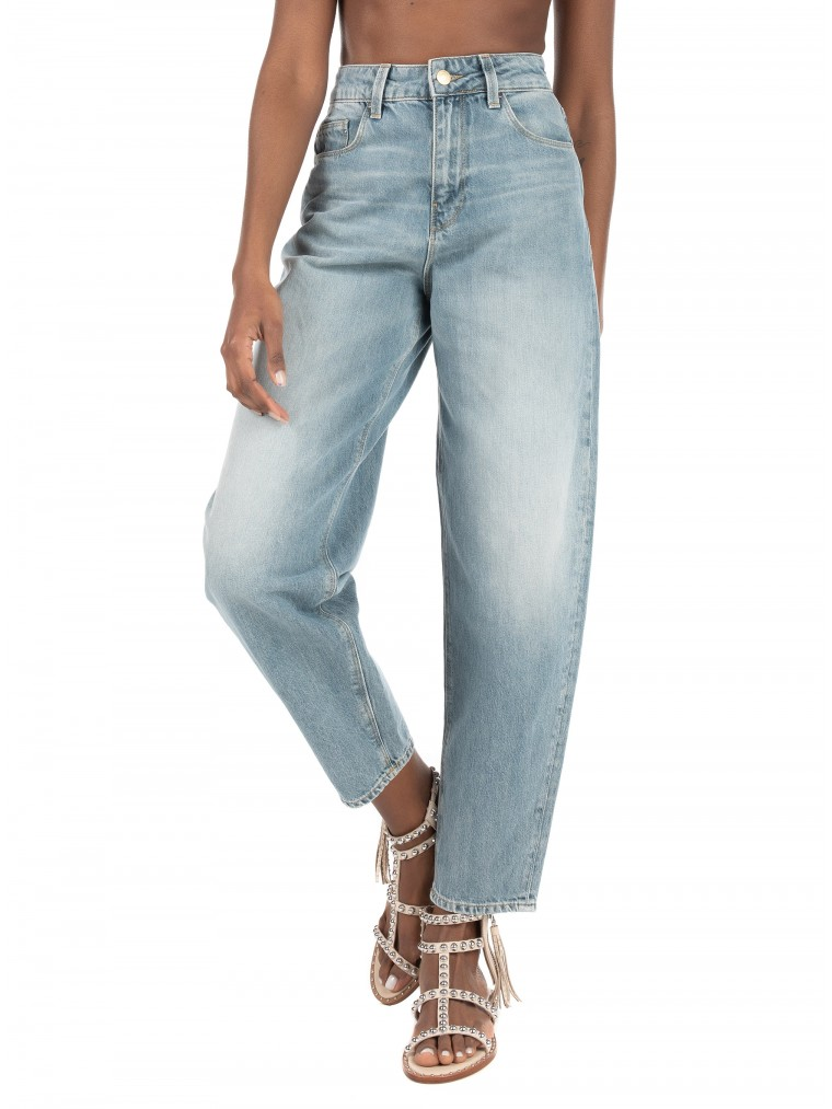 Vero Moda High Waisted Loose Fit Jeans Ida-Light Aged Denim