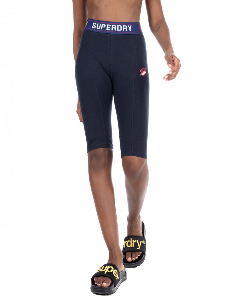Superdry Sportstyle Essential Cycling Shorts-Blue