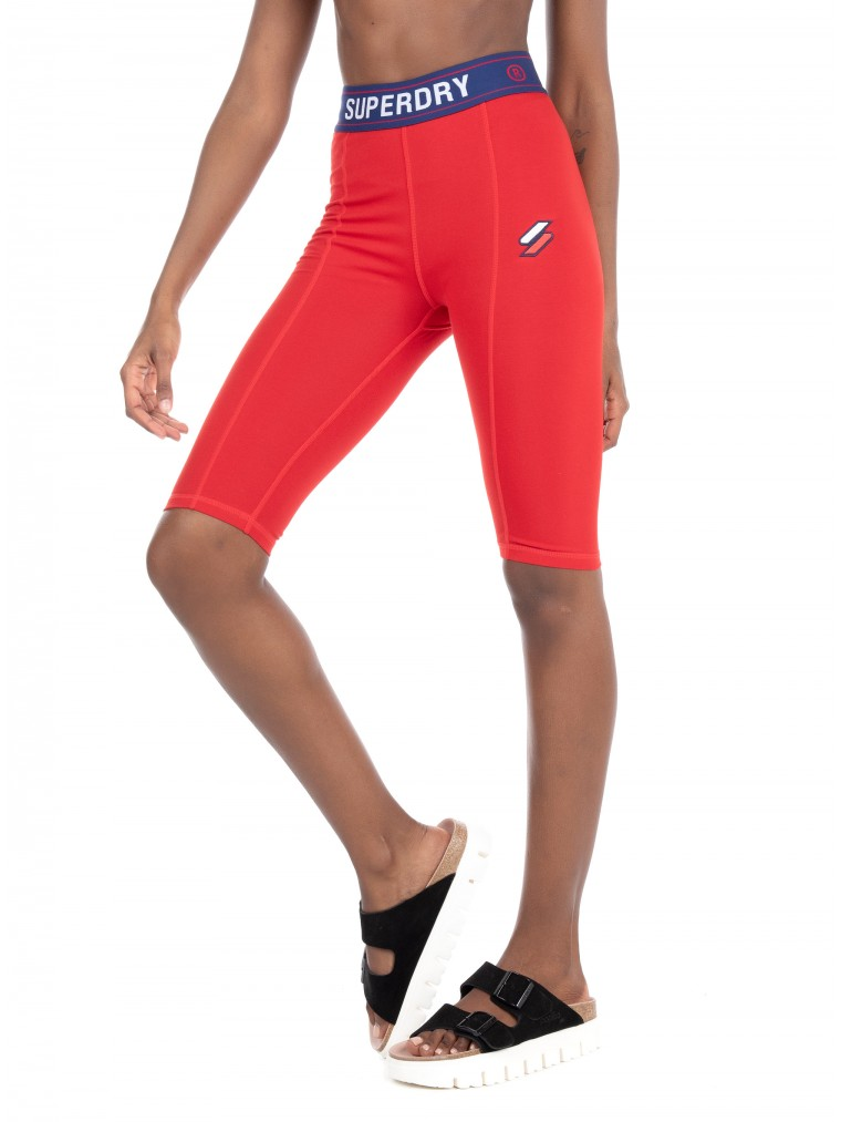 Superdry Sportstyle Essential Cycling Shorts-Red