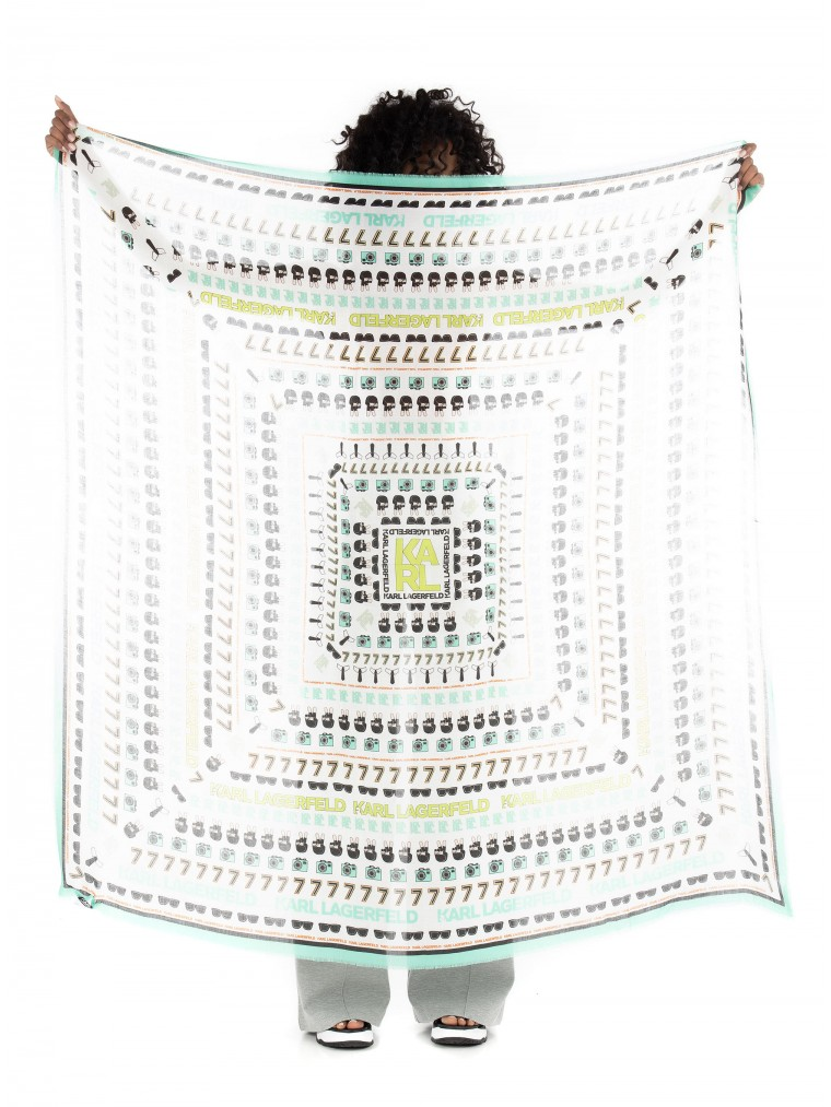 Karl Lagerfeld Karls Favourite Square Scarf-Multi Colors