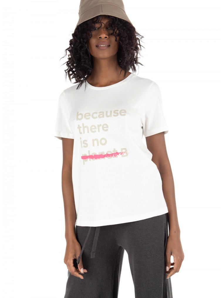 Ecoalf Underlined Because T-Shirt-Off White