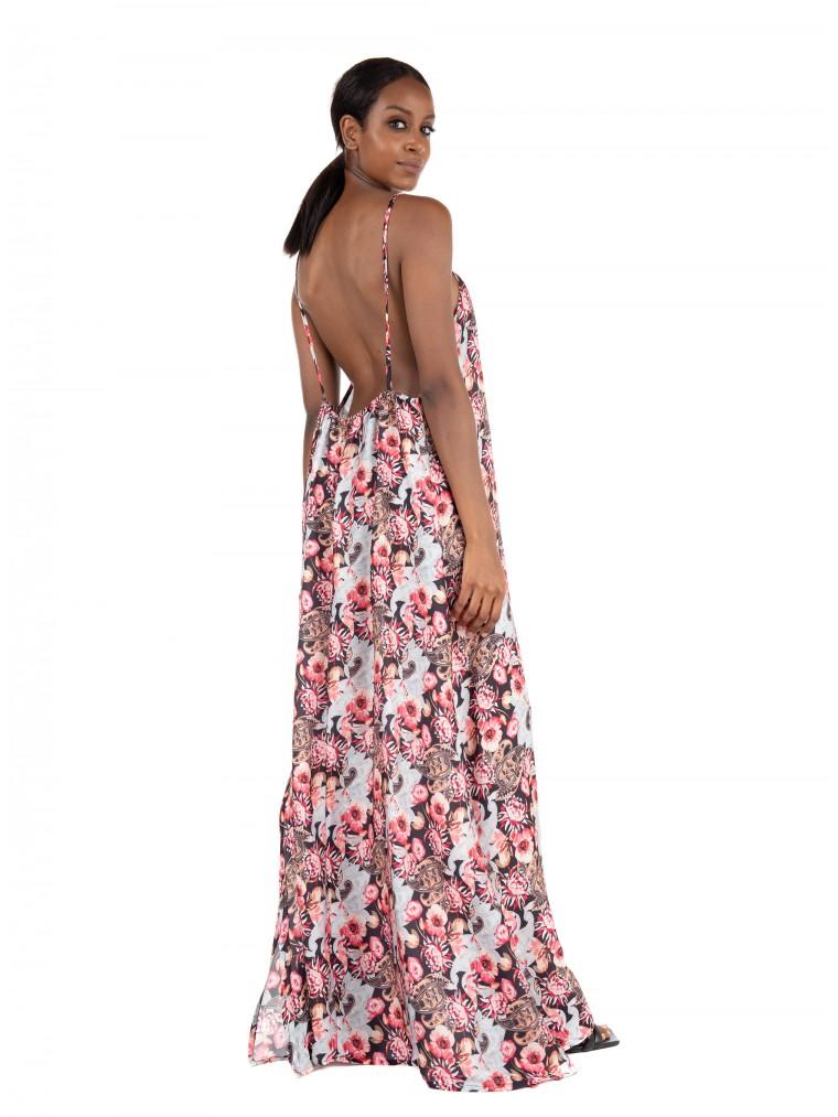 Collectiva Noir Dress Ekavi 2-Floral