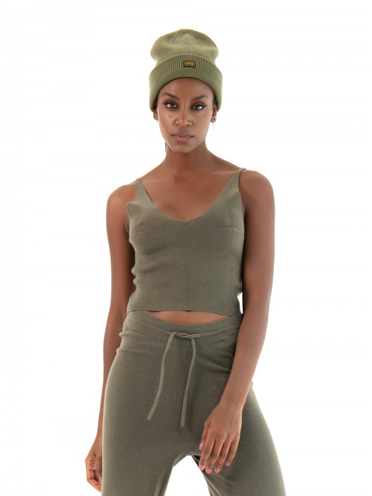 Only Cropped Top Cozy-Olive