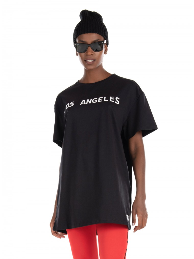 Kendall + Kylie Active Oversized T-Shirt-Black