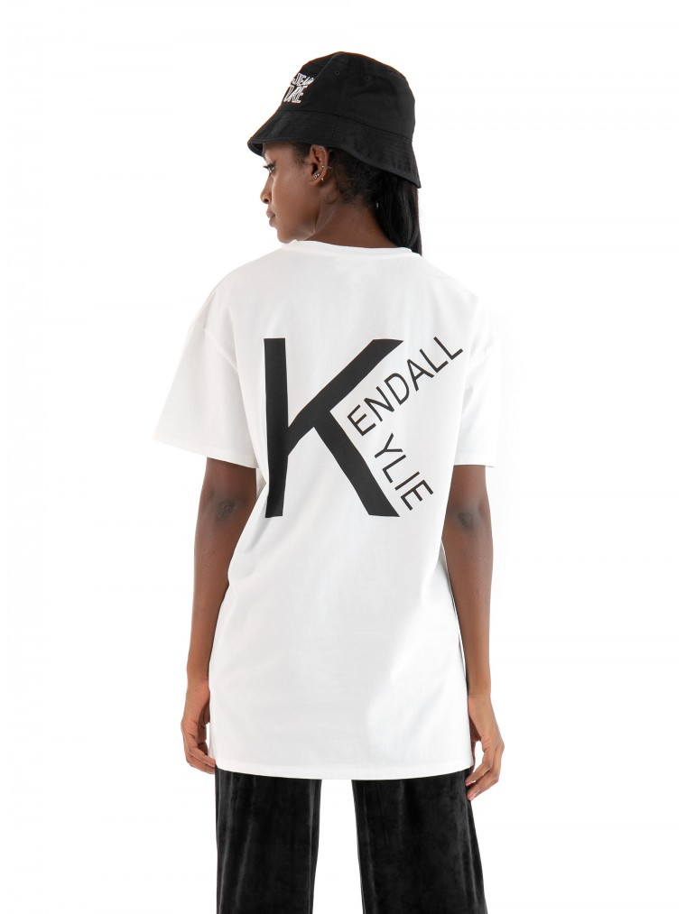 Kendall + Kylie Oversized T-Shirt-Off White