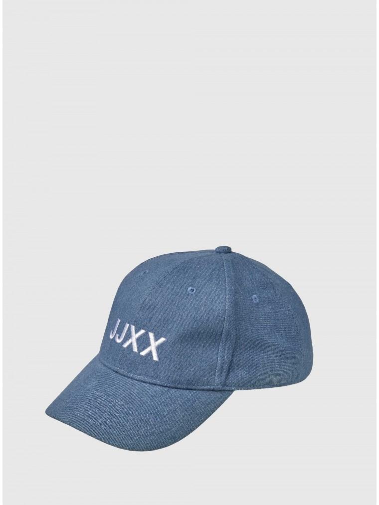 JJXX Logo Baseball Cap-Medium Aged Denim