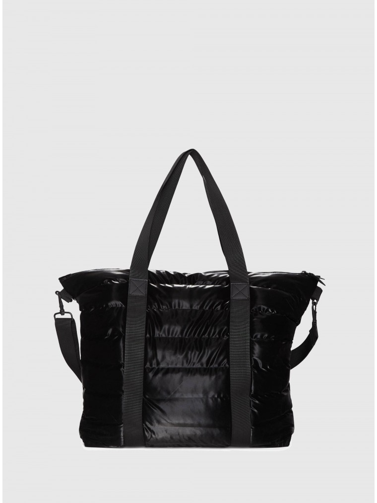 Rains Tote Bag Quilted-Black