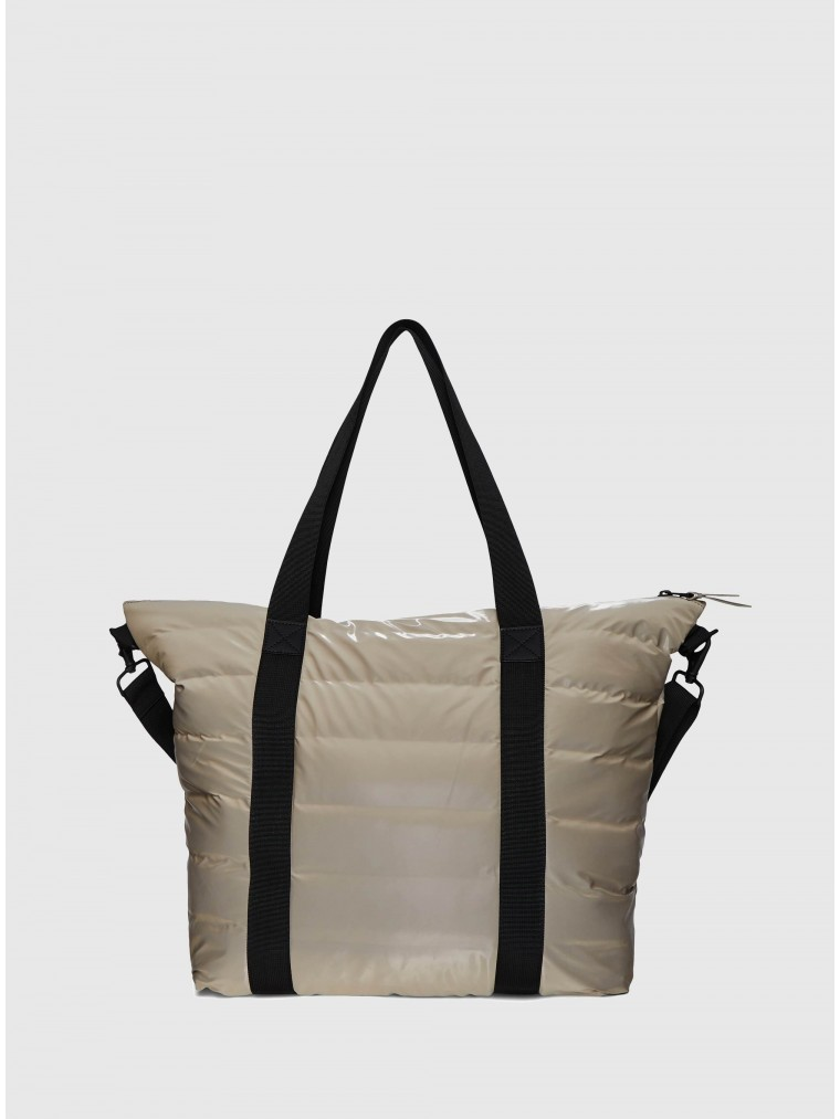 Rains Tote Bag Quilted-Light Beige