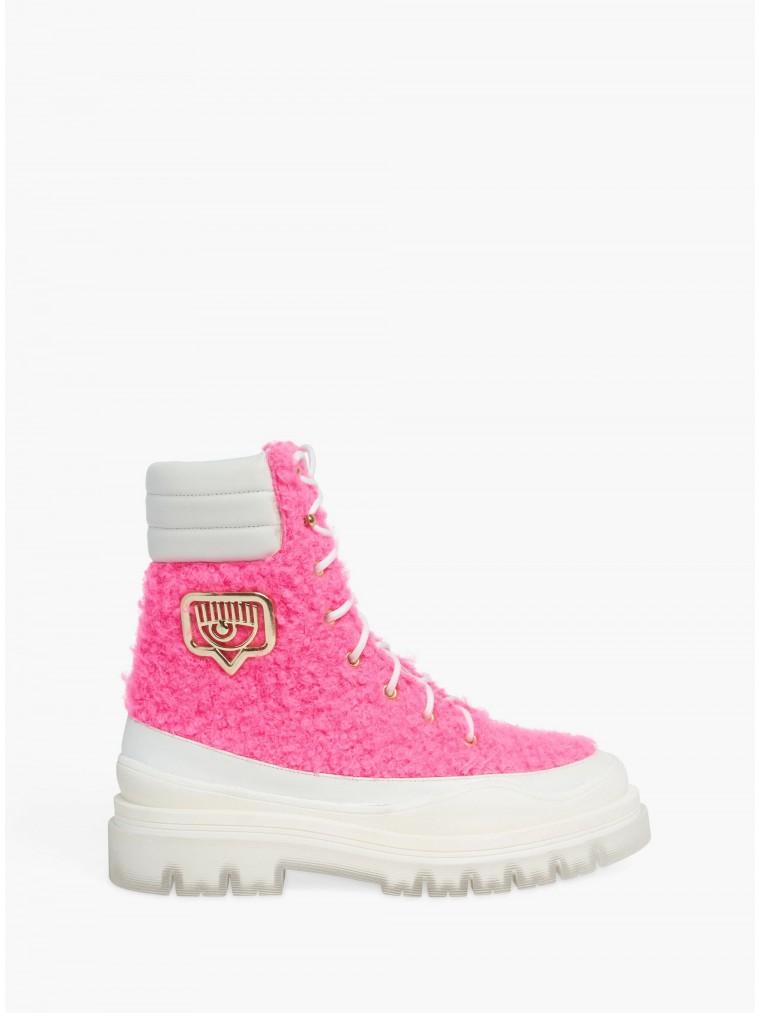 Chiara Ferragni Hicking Boots-Fluo Pink