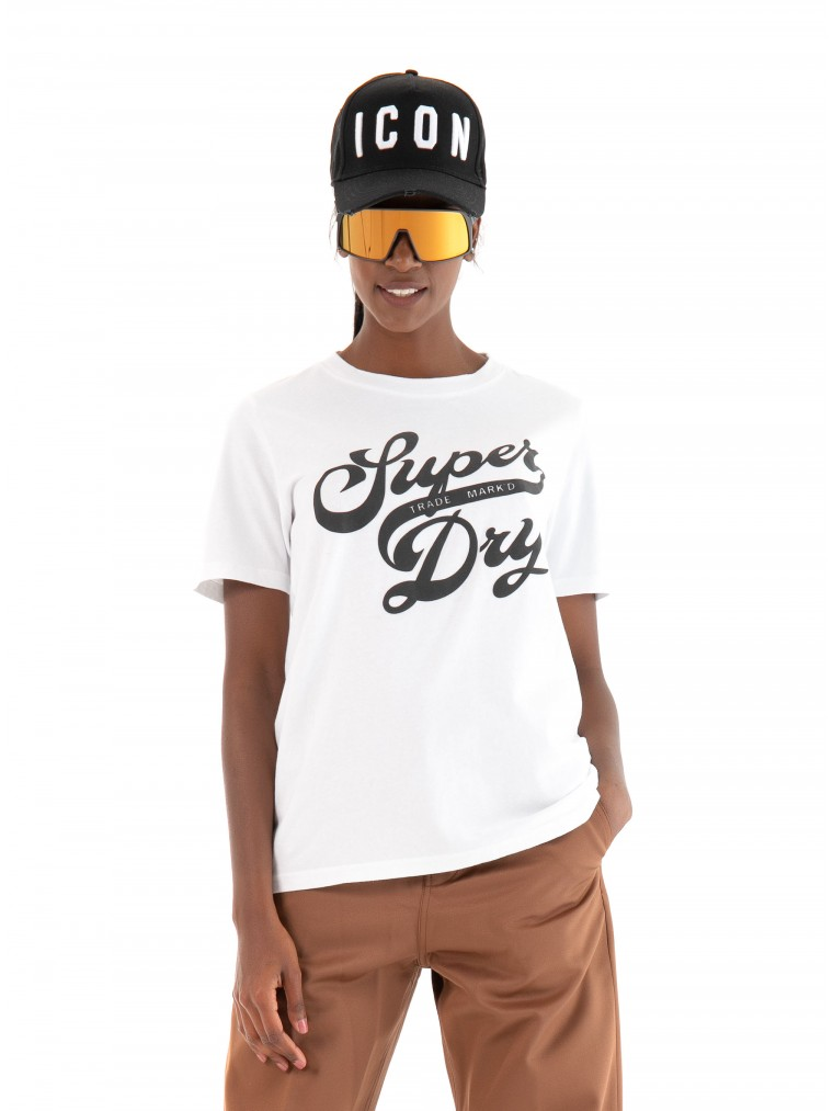 Superdry Black Out T-Shirt-White