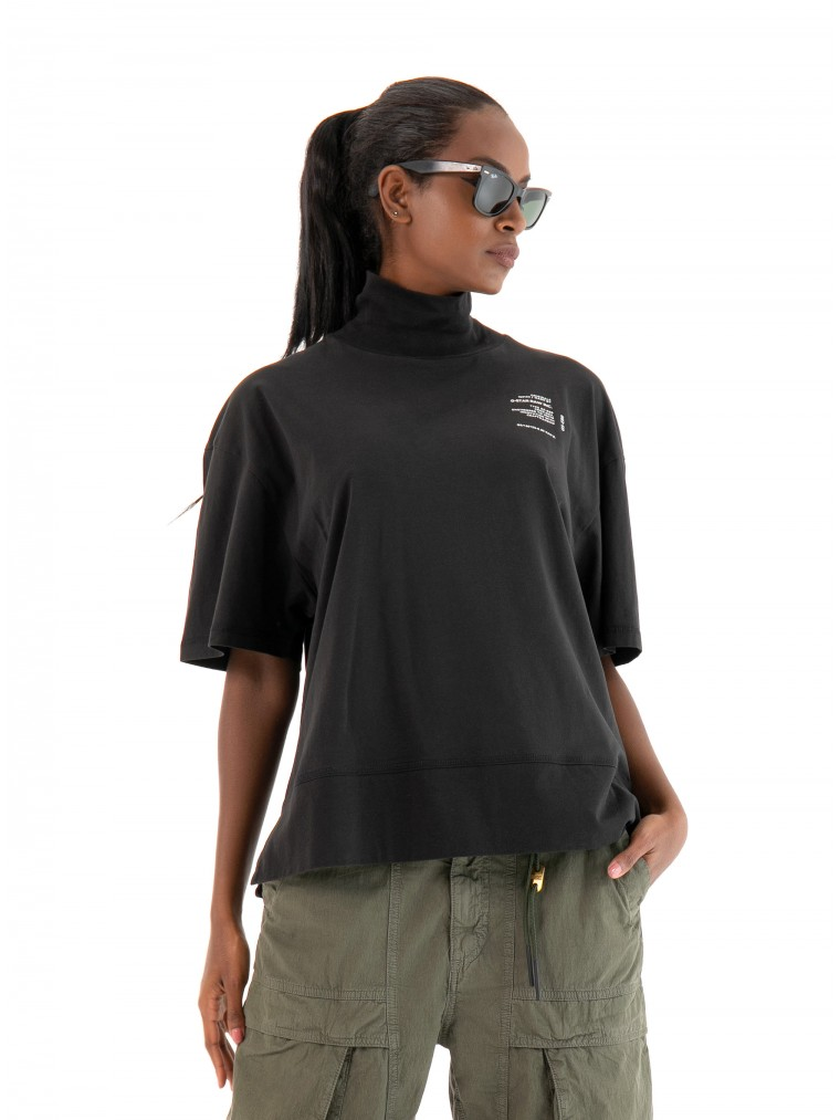 G-Star Loose Graphic Funnel T-Shirt-Black