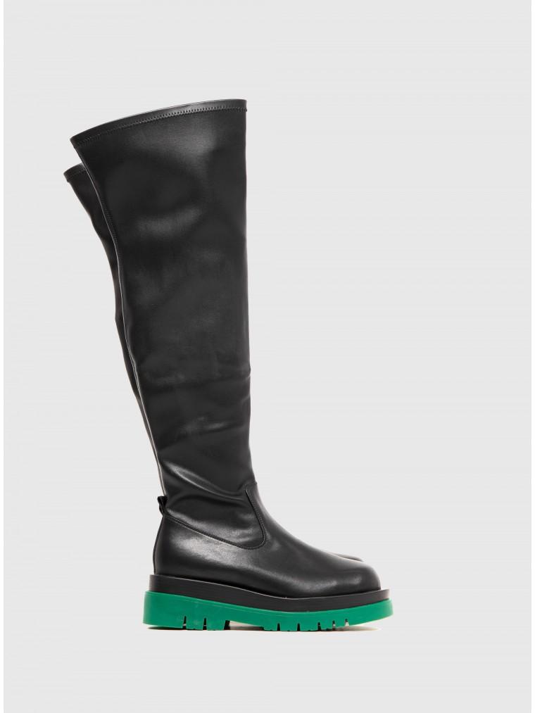 Favela Knee Boots Nola-Black
