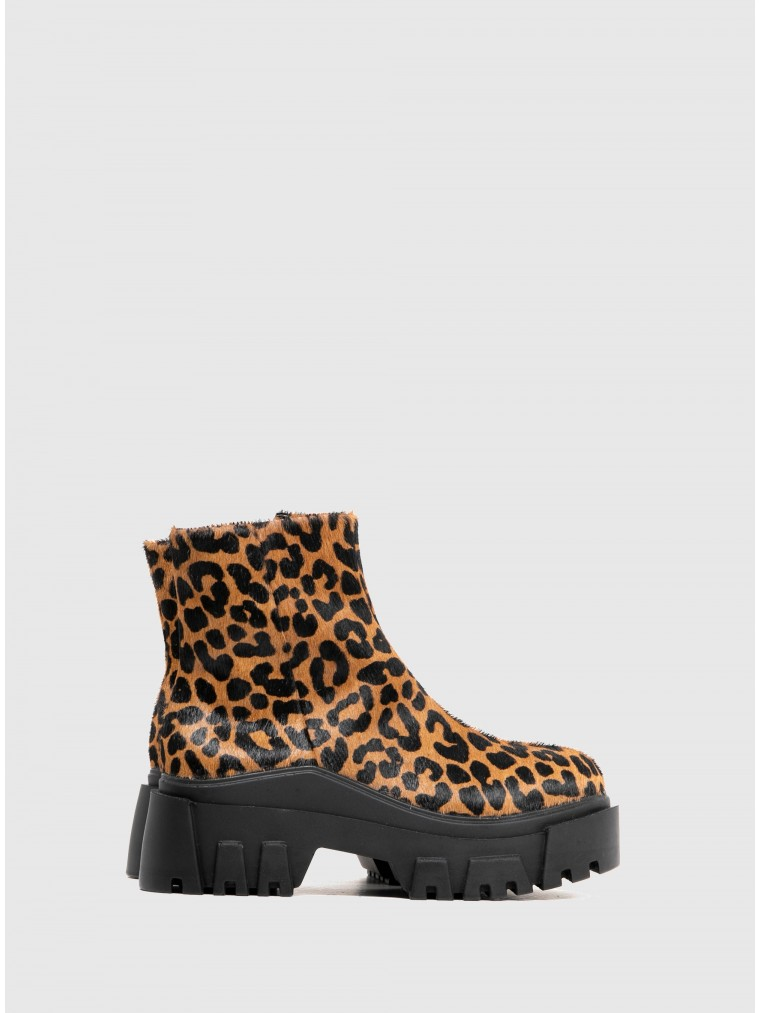 Carrano Ankle Boots-Animal Print