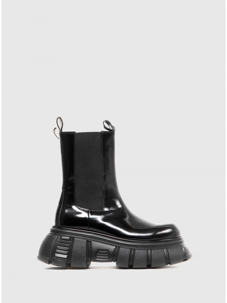 Jeffrey Campbell Ankle Boots Stomped-Black