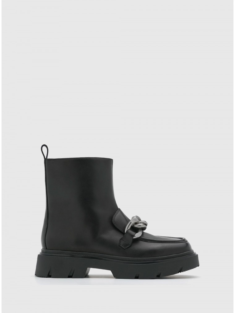 Ash Ankle Boots Urban Chain-Black
