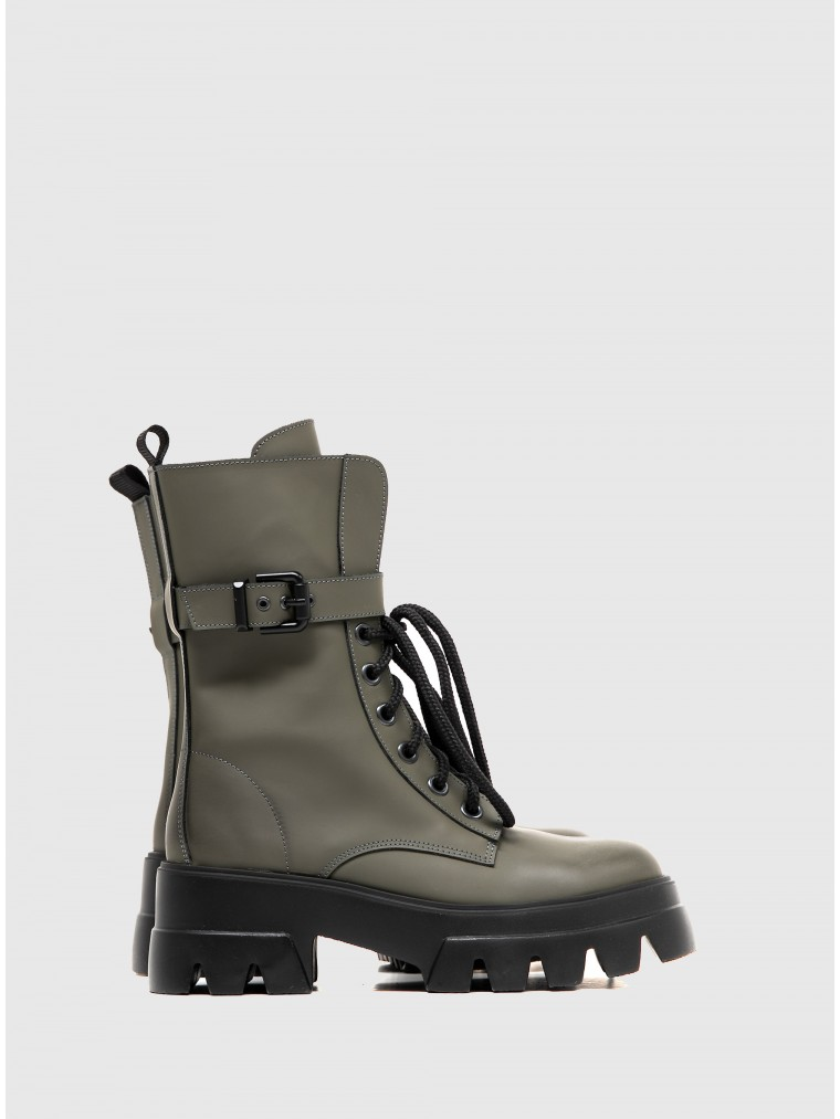 Catarina Martins Ankle Boots-Olive