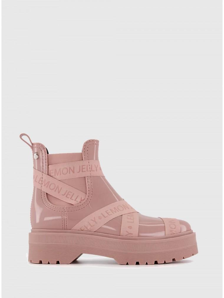 Lemon Jelly Vegan Ankle Boots Francesca 07 -Pink