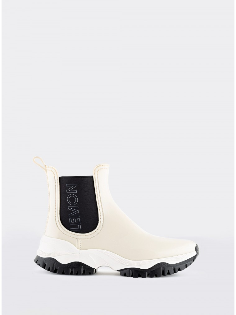 Lemon Jelly Vegan Ankle Boots Jayden 12-Off White