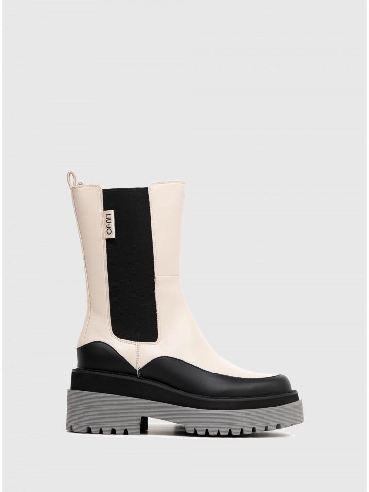Liu Jo Ankle Boots-Light Beige