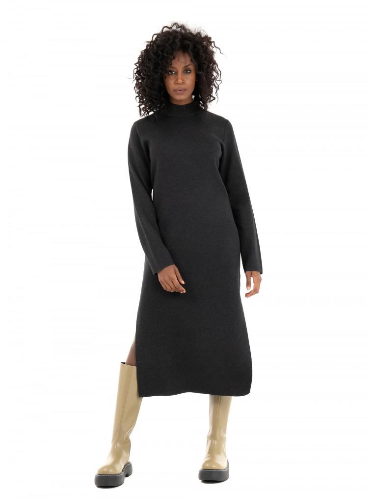 Ecoalf Riaza Dress-Dark Grey