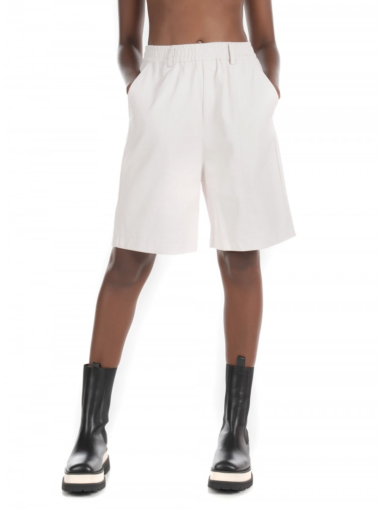 Collectiva Noir Luna Shorts-Off White